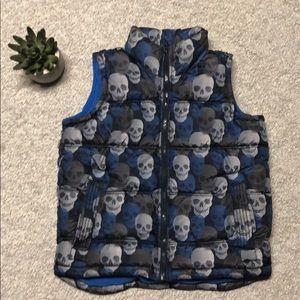 Old Navy kids skull zip vest small (6-7).